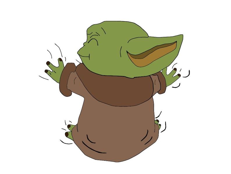 Yoda Baby Yoda Baby Svg Star Wars Svg Yoda Baby Silhouette ...