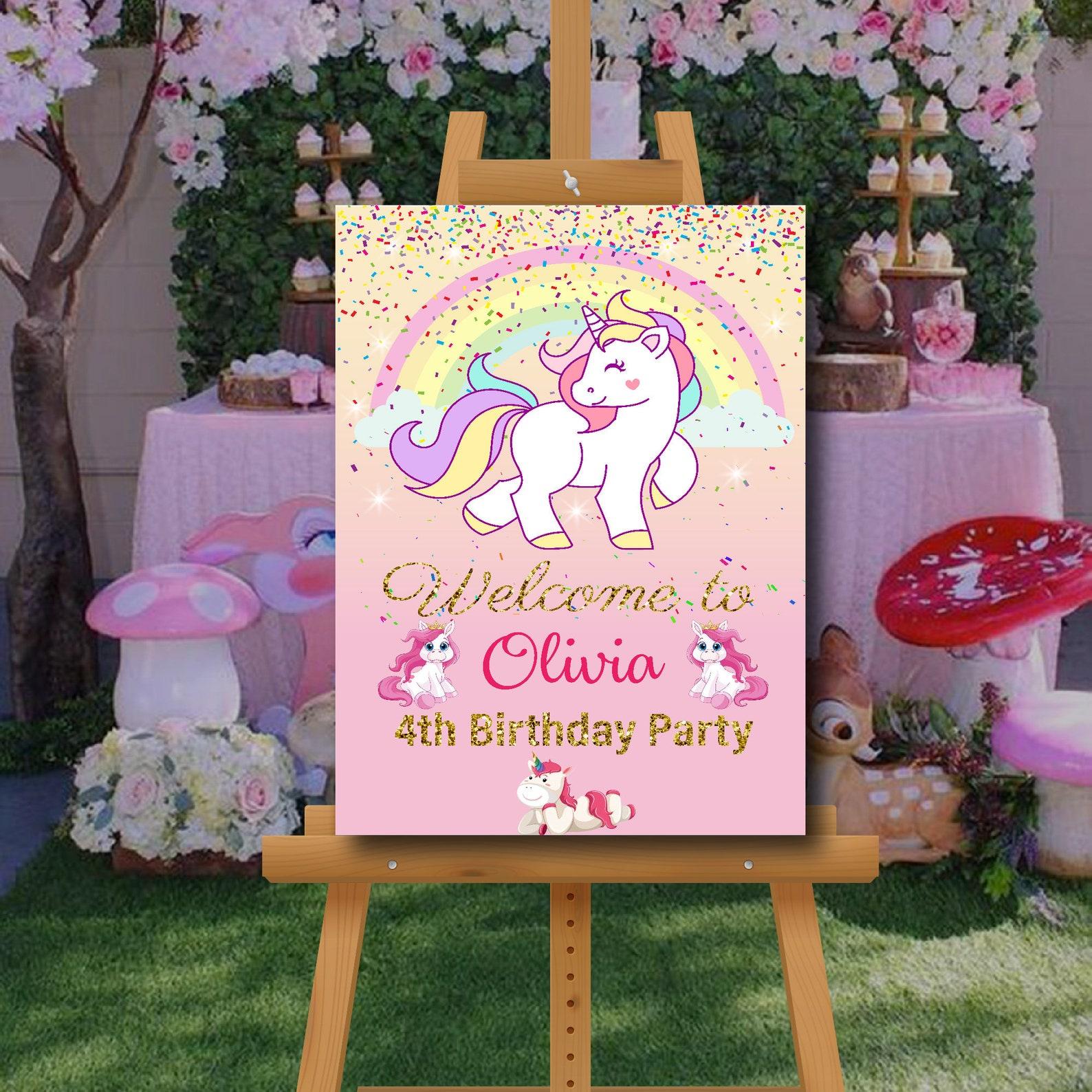 Unicorn Party Backdrops 1×1.5 Ft