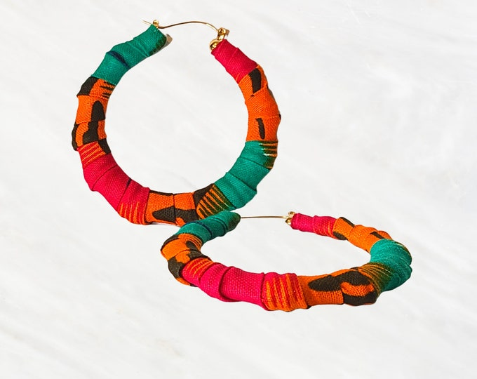 Ankara Bright Bold and Beautiful Lightweight Earrings Will Turn Heads.  People Will Stare, Make It Worth Their While!