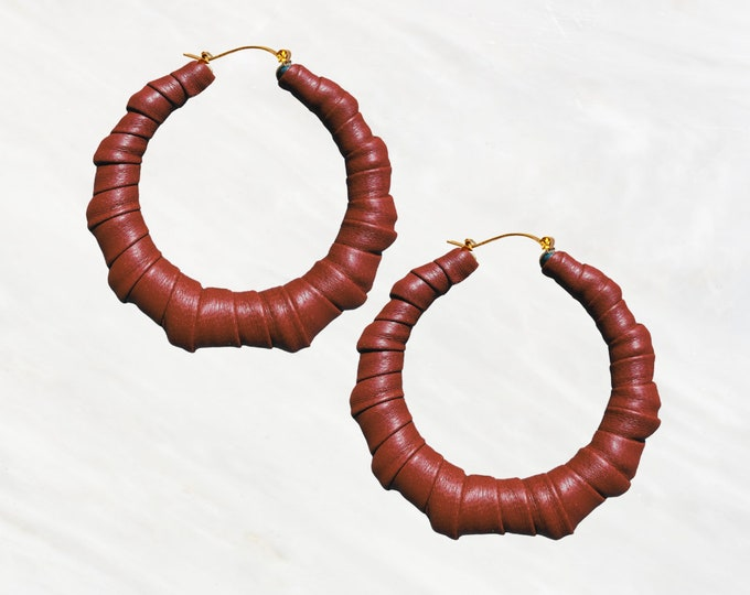 Pumpkin Spice & Everything Nice Bamboo Hoopz Earrings. Get your Fall outfits ready to rock these hoopz.