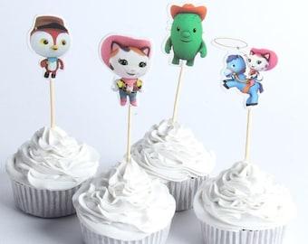 24PCS Baby Mermaid Theme Glitter Cupcake Topper Cake Picks Decoration BL3