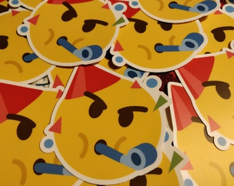 Party Hard Mashup Emoji Vinyl Stickers For Laptop Phone Bottle