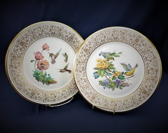 8 Golden Splendor-Decorative Plates With Birds by Lenox Plate Number# G6025