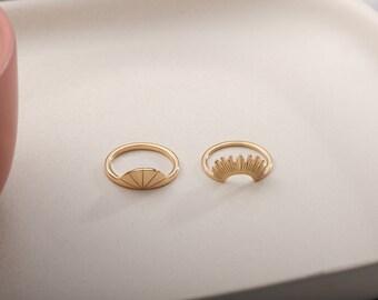 Sunrise Ring, Sun Ring, Celestial Ring Gift, Stacking Ring, Ring, Stackable Ring, Gift for Her, Girlfriend Gift, Daughter Gift, Signet Ring
