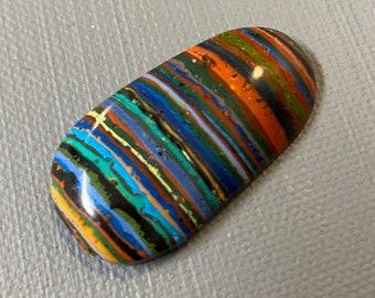 Rainbow Calsilica Handmade Cabochon
