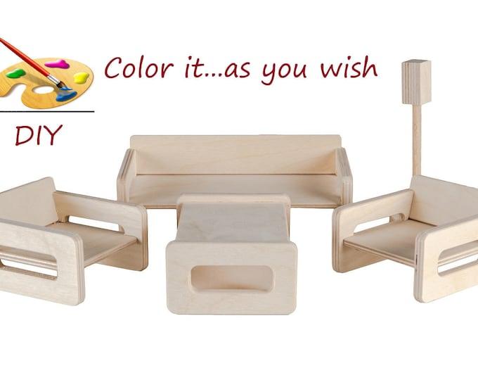 Dollhouse Miniature, Miniature Furniture, Doll house Furniture, Dollhouse Accessories, Dollhouse Living room
