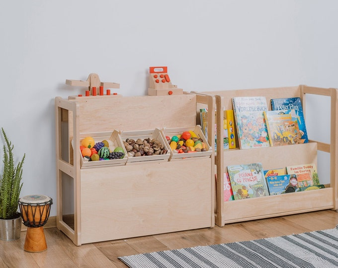 Set of 2 Montessori bookshelf MIDI