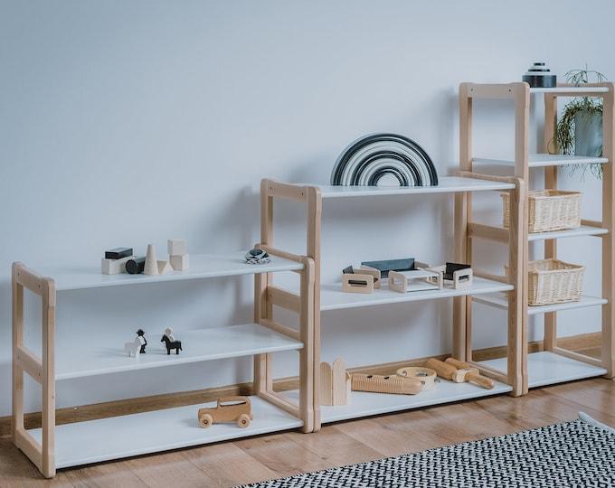 Montessori based Woodjoy shelf MAXI white