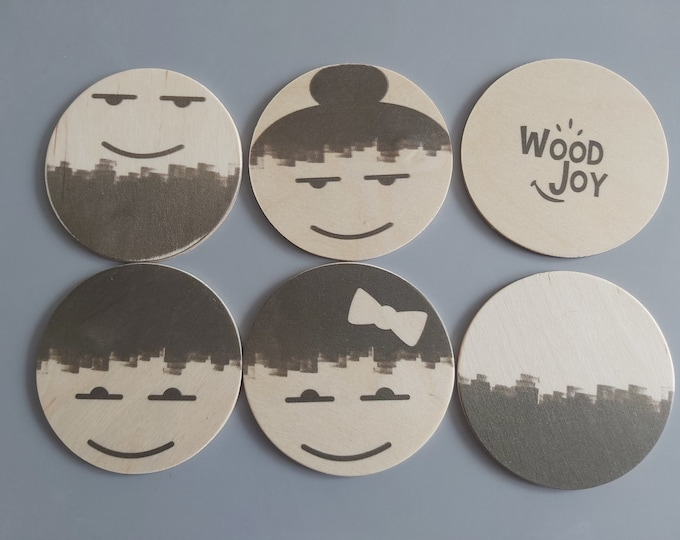 Wooden coaster Wooden toys Playing roles