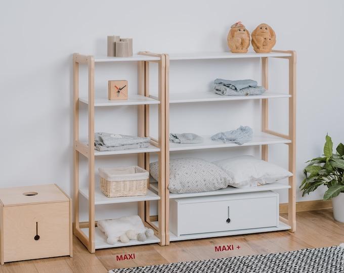 Set of Montessori MAXI and MAXI+ shelf