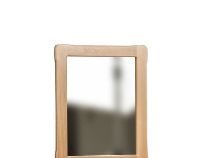 Mirror with wooden frame Montessori based