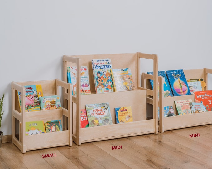 Montessori bookshelf MIDI Toddler furniture Bookcase Montessori