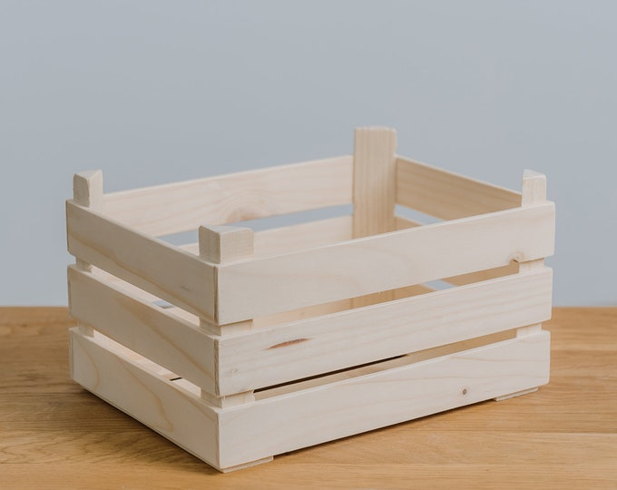 Pine wood basket,  Sorting tray, DIY, Home Decoration, Easter basket, Decorative Wooden Tray, TALL