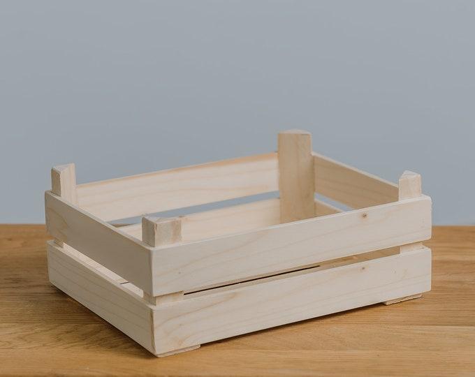 Pine wood basket,  Sorting tray, DIY, Home Decoration, Easter basket, Decorative Wooden Tray, SHORT