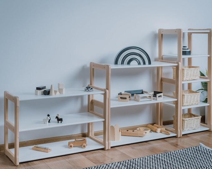 Montessori shelf set of 3 pieces MINI, MIDI, MAXI white