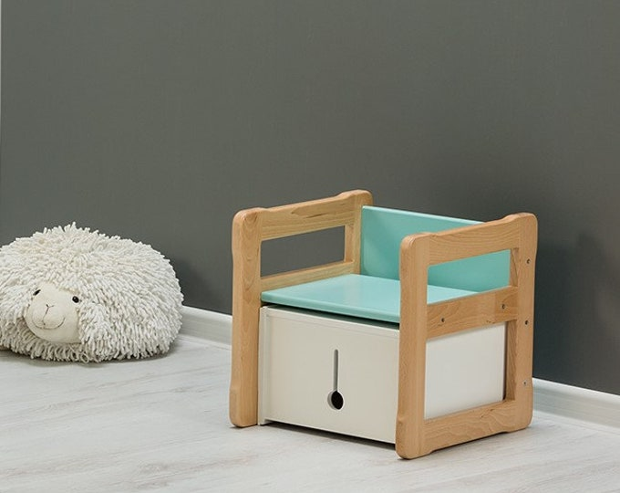 Set of Woodjoy Multifunctional chair and small box