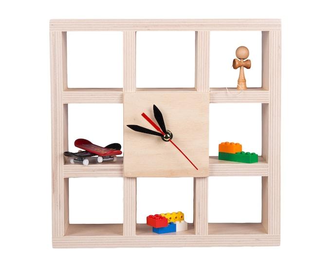 Kid room wall clock box shelf  Home  Decoration Gift