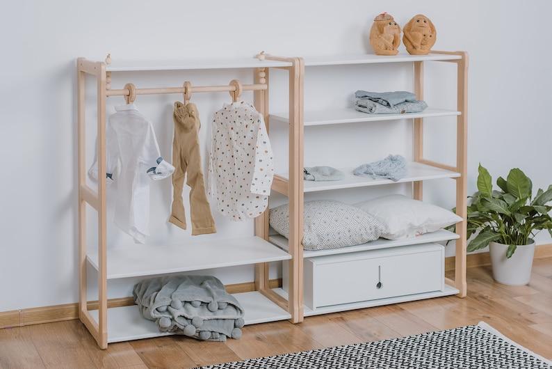 Montessori clothing rack