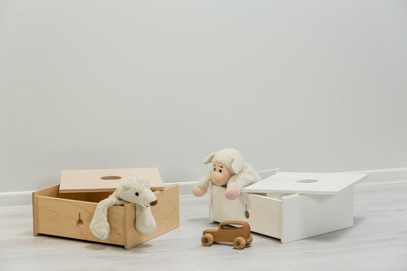 Multifunctional middle box Montessori based Toy box image 0