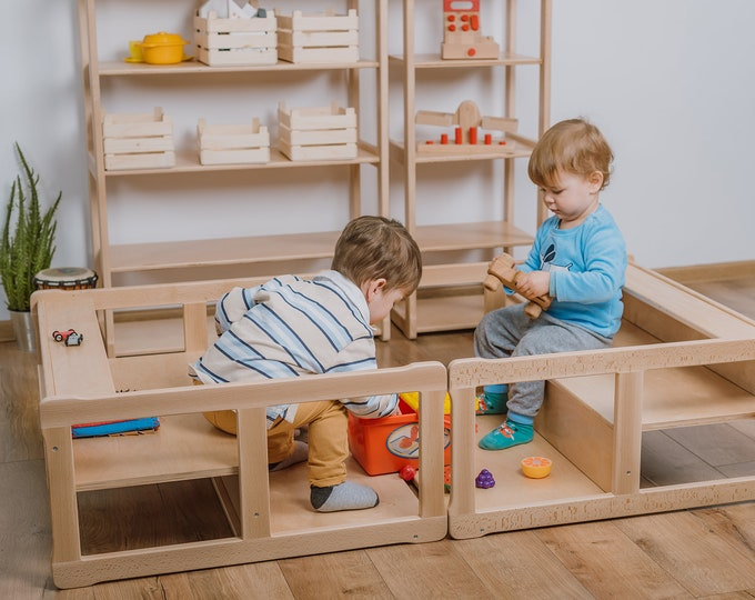 Set of 2 Montessori bookshelf MIDI