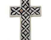 Handmade Bone Inlay Small Cross