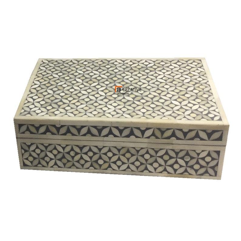 Handmade Bone Inlay Jewelry Box Gift Box Decorative Box Multi Purpose Box
