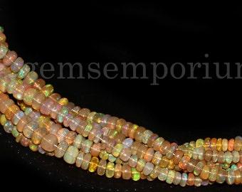 AAA+++1 Strand silverite opal multi plain smooth rondelle beadsmulti opal plane rondelle beadsnatural disco opal beadsopal Silverite13