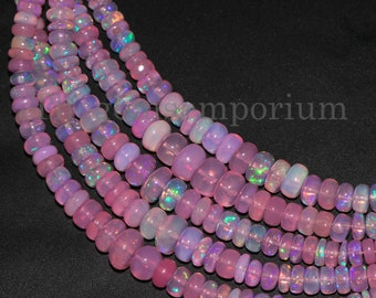 Faceted Beads Pink Opal Faceted Rondelle Beads Rondelle Beads 9.5x10.5 mm Pink Opal Faceted Beads Opal Beads