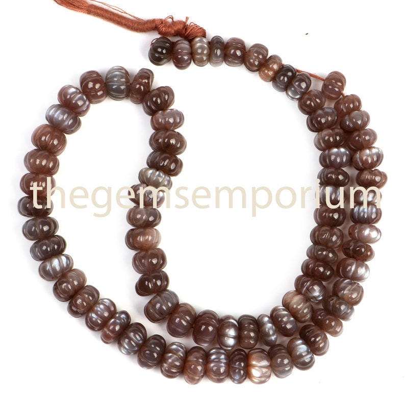 Moonstone Carving Gemstone Beads AAA Quality,Gemstone for Jewelry Making Chocolate Moonstone Carving Rondelle Gemstone Beads