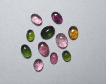 Tourmaline-Cabochon Super Top AAA Quality Natural Size 8X10mm--Height 4MM Weight 2.85Ct-100/% Natural Wholesale Price