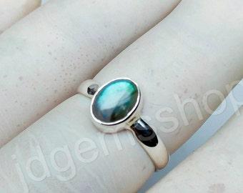 Labradorite Ring, Labradorite Gemstone, Blue Labradorite Ring, Labradorite Silver Ring, Natural Labradorite Ring, Sterling Silver Ring JR86