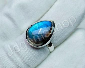 Labradorite Ring*Gemstone Ring*925 Sterling Silver Ring*Statement Ring*Gift For Her*Christmas Gift*Ring For Women*Handmade Ring JR3