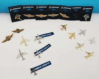 Boeing Pin, Airbus Pin, Pin With Plane, Pin With Airplane, Metal Badge, Aircraft, Aviation, Best Gift, Pilot, Stewardess, Wings, B777, B787
