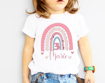 Temple picture with rainbow, shirt for birthday, ironing pictures pink rainbow, birthday,for kids, birthday child,