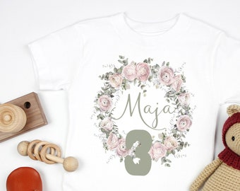 Ironing picture for girls, with flower wreath, eucalyptus, temple picture girl, personalized, motif, flowers,