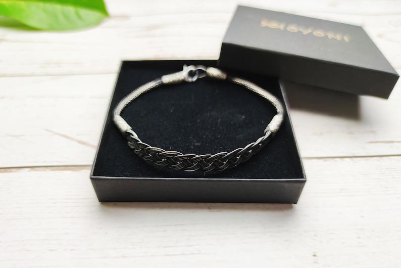 Sterling Silver BRAIDED BRACELET Chain Handmade Bracelet Silver Chain Bracelet Gift for Mom