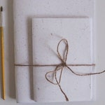 Hand Stitched Elephant Poo Paper Notebook