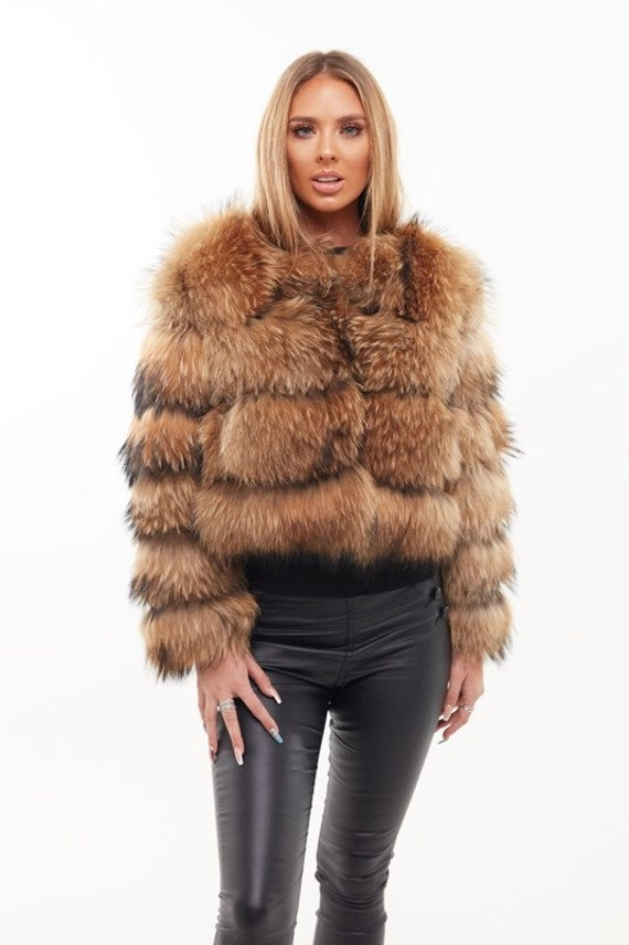 Raccoon Fur Coat   Natural by Etsy