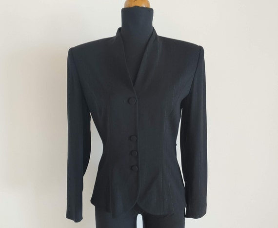 Vintage Women Pinstripe Jacket, By CARTOON Fashion