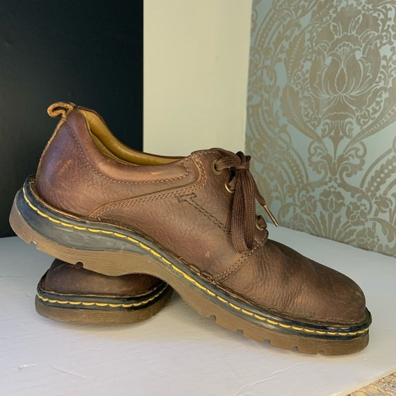 Dr. Martens Mens Brown Leather Oxford Shoes - image 3