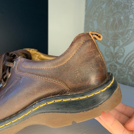 Dr. Martens Mens Brown Leather Oxford Shoes - image 4