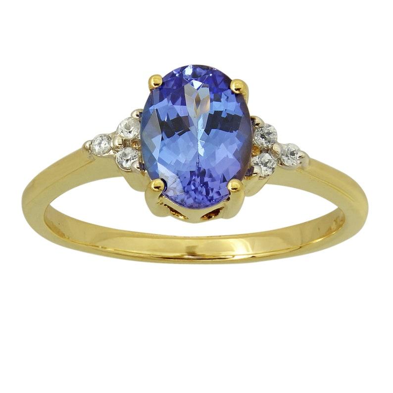 Blue Tanzanite Zircon Cubic Zircon Gemstone Ring Sliver Jewelry Cz Ring Birthstone Ring Statement Ring Handmade Silver Ring Gifts