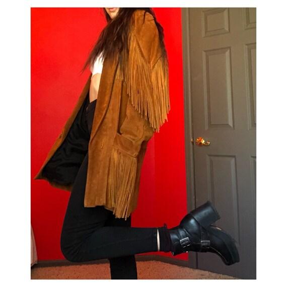 Vintage Leather Jacket / Fringe leather jacket/ Vi