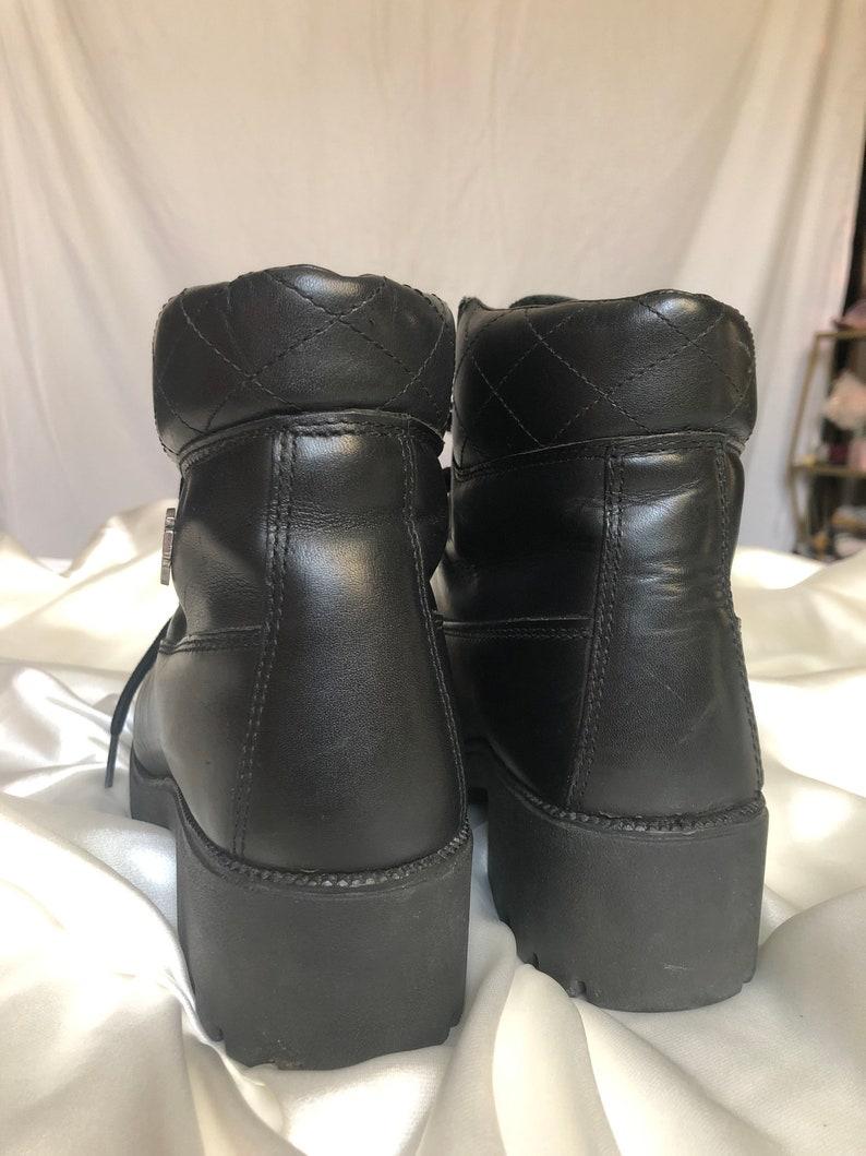 Women\u2019s Harley Davidson Lace up Leather Boots  Vintage Harley Davidson Leather Boots