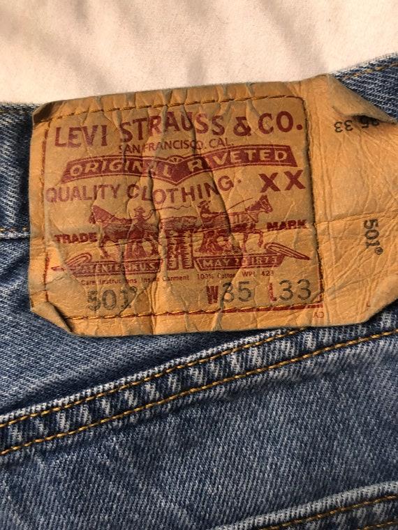 501 Levis/ Distressed 501 Levis / 1960s Vintage L… - image 9