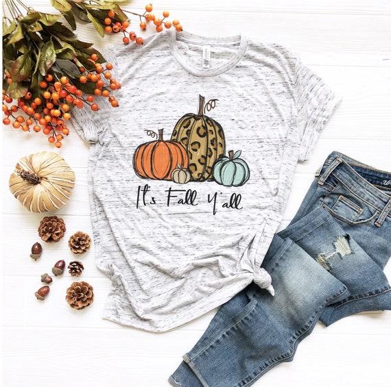 Leopard pumpkin FALL Halloween Thanksgiving Tee Unisex Adult