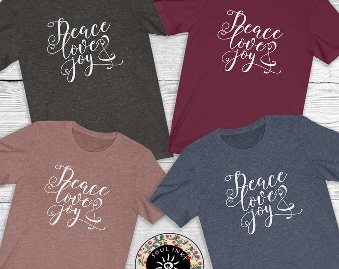 Peace Love & Joy Short Sleeve Tee