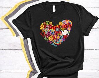 Peace Love Joy Jesus Women's Short Sleeve Tee, BOHO Style Tee, Christian Tee, Gift For Women, Valentine Shirt