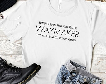 Waymaker | Promise Keeper | Light In The Darkness | Men's Short Sleeve Tee | Christian t-shirt | Religious t-shirt | Faith t-shirt