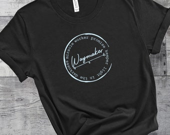 Waymaker Womens Short Sleeve Tee | Miracle Worker  | Women's Short Sleeve Tee | Christian t-shirt | Religious t-shirt | Faith t-shirt